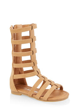 Girls 5-10 Zip Back Tall Gladiator Sandals - 1737064790251