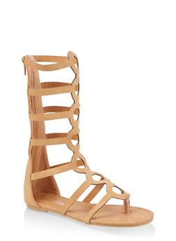 Girls 11-4 Tall Gladiator Sandals   1737064790256 - 1737064790256