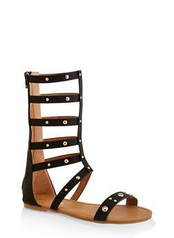 Girls 11-4 Studded Tall Gladiator Sandals | 1737064790260 - 1737064790260