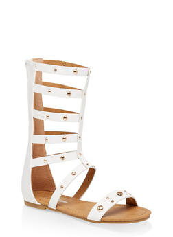 Girls 11-4 Studded Tall Gladiator Sandals | 1737064790260 - 1737064790260