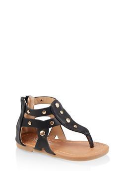 Girls 5-10 Studded Thong Sandals - 1737064790262