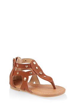 Girls 5-10 Studded Thong Sandals - 1737064790262