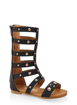 Girls 5-10 Tall Studded Gladiator Sandals - 1737064790263