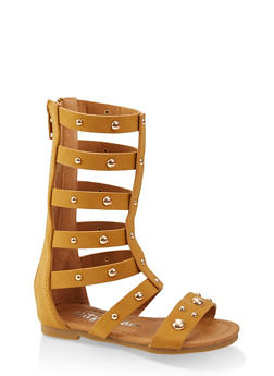 Girls 5-10 Tall Studded Gladiator Sandals - 1737064790263