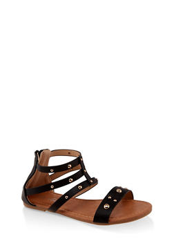 Girls 11-4 Studded Gladiator Sandals | 1737064790264 - 1737064790264