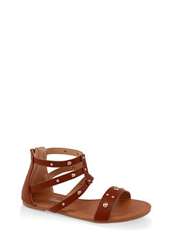 Girls 11-4 Studded Gladiator Sandals | 1737064790264 - 1737064790264