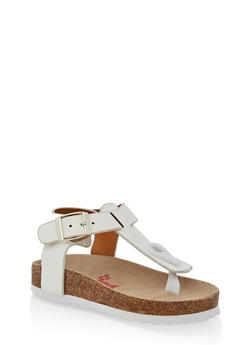 Girls 5-10 Thong Footbed Sandals - 1737064790276