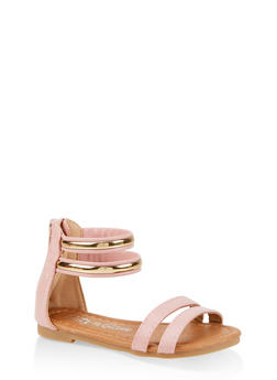 Girls 5-10 Double Ankle Strap Sandals - 1737064790277