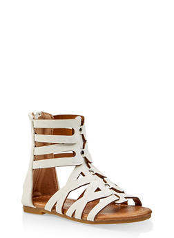 Girls 5-10 Tall Studded Gladiator Sandals | 1737064790279 - 1737064790279