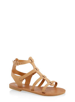 Girls 11-4 Ankle Strap Gladiator Sandals - 1737064790300