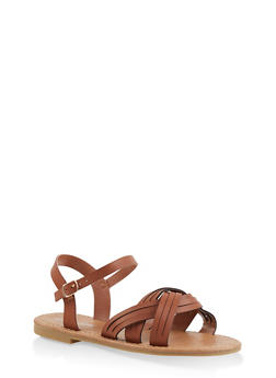 Girls 11-4 Criss Cross Strap Sandals - 1737064790301
