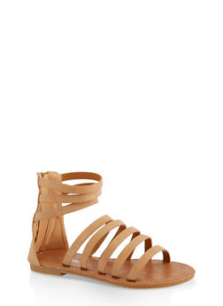 Girls 11-4 Tall Strappy Sandals - 1737064790302