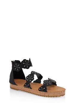 Girls 11-4 Studded Platform Sandals - 1737064790323