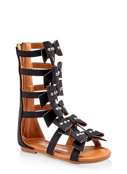 Girls 5-10 Tall Bow Caged Sandals - 1737064790342