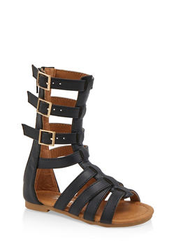 Girls 5-10 Tall Gladiator Sandals - 1737064790345