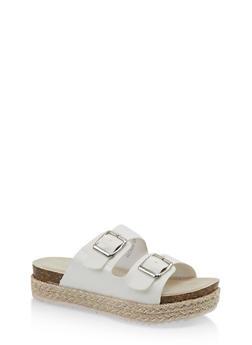 Girls 12-4 Two Buckle Strap Platform Sandals - 1737064790478