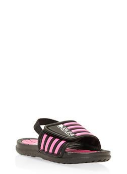 Girls 5-10 Athletic Slingback Slides - 1737065690318