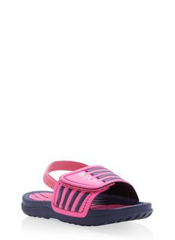 Girls 5-10 Athletic Slingback Slides - 1737065690319