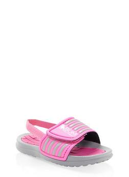 Girls 5-10 Athletic Slides - 1737065690320
