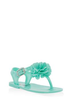 Girls 6-10 Flower Jelly Sandals - 1737065690372