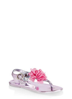 Girls 7-10 Flower Thong Sandals | Pink - 1737065690429