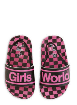 Girls 5-10 Girls World Slingback Pool Slides - 1737065690600
