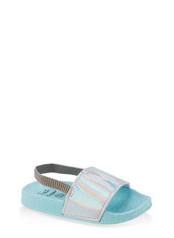 Girls 5-10 Im A Mermaid Slingback Pool Slides - 1737065690604