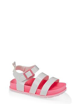 Girls 7-10 Buckle Strap Footbed Sandals - 1737065690799