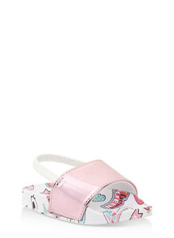 Girls 5-10 Printed Slingback Slides - 1737065693642