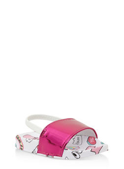 Girls 5-10 Printed Slingback Slides - 1737065693644