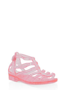 Girls 5M-12 Glitter Jelly Gladiator Sandals - 1737068060223
