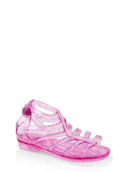 Girls 5-10 Glitter Jelly Gladiator Sandals - 1737068060241