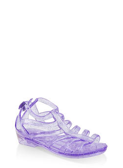 Girls 10-4 Glitter Jelly Gladiator Sandals - 1737068060242