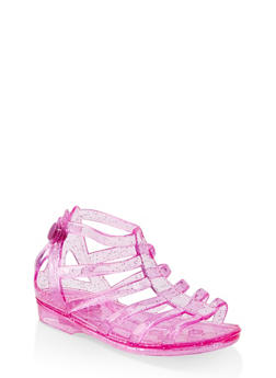 Girls 10-4 Glitter Jelly Gladiator Sandals - 1737068060242