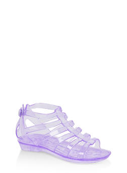 Girls 10-4 Jelly Gladiator Sandals - 1737068060246