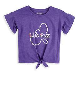 Girls 7-16 Buffalo David Bitton Graphic Tie Front T Shirt - 1764074550002