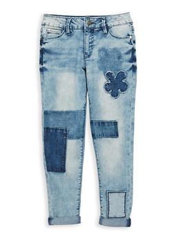 Girls 7-16 Buffalo David Bitton Denim Patch Jeans - 1764074550021