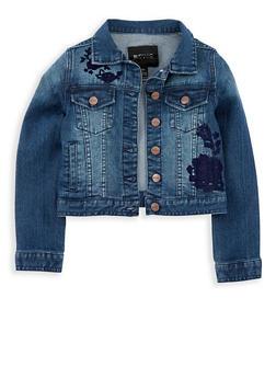 Girls 7-16 Buffalo David Bitton Embroidered Jean Jacket - 1764074550024