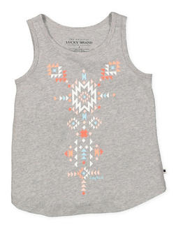 Girls 4-6x Lucky Brand Graphic Tank Top - 1764074550052