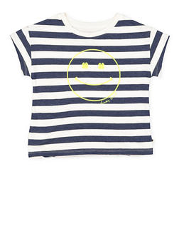 Girls 4-6x Lucky Brand Striped Graphic Tee - 1764074550054