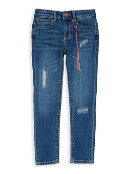 Girls 4-6x Lucky Brand Distressed Denim Jeans - 1765074550108
