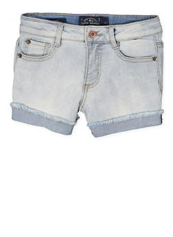 Girls 7-16 Lucky Brand Frayed Cuff Denim Shorts - 1765074550118