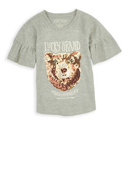 Girls 7-16 Lucky Brand Sequin Graphic Tee - 1773074550063