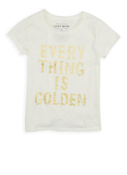 Girls 7-16 Lucky Brand Foil Graphic Tee - 1773074550065