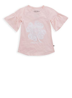 Girls 7-16 Lucky Brand Clover Graphic Tee - 1773074550067