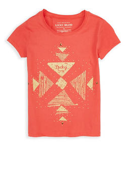 Girls 7-16 Lucky Brand Studded Graphic Tee - 1773074550071