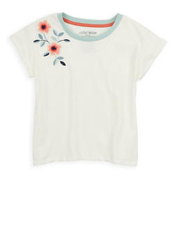 Girls 7-16 Lucky Brand Floral Embroidered Tee - 1773074550074