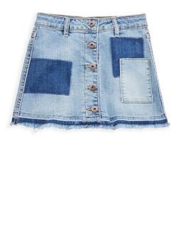 Girls 7-16 Lucky Brand Frayed Denim Skirt - 1784074550026