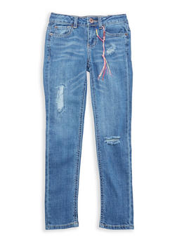Girls 7-16 Lucky Brand Distressed Jeans - 1784074550028