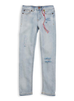 Girls 7-16 Lucky Brand Distressed Skinny Jeans - 1784074550029